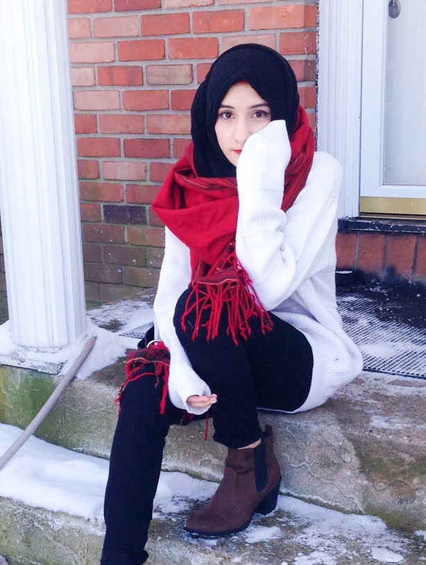 Red Scarf and Boots